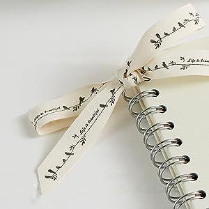 condolence book with ribbon