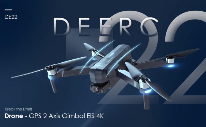 DE22 Pro Drone with Gimble