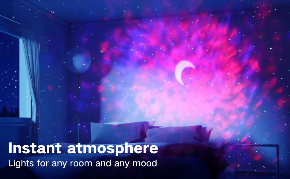 Star Projector, Galaxy Projector, iThrough Night Light Projector for Kids