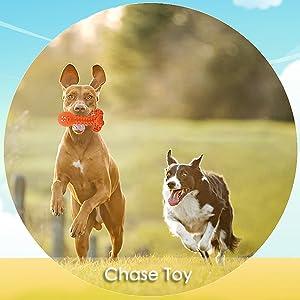 wieppo dog fetch toy orange