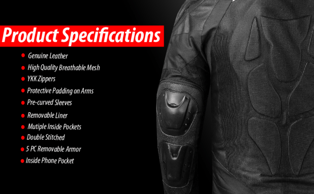 Motorcycle Jacket Specifications