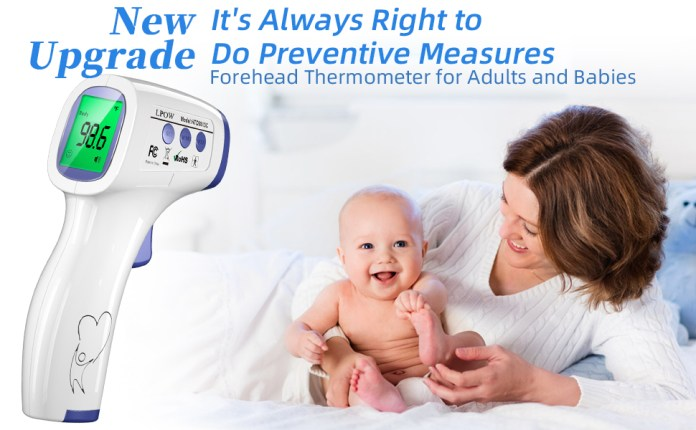 Forehead thermometer for adults