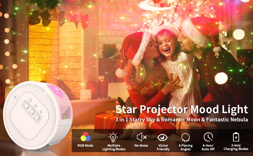 Star Projector, Galaxy Projector, iThrough Night Light Projector for Kids Starry Light Projector