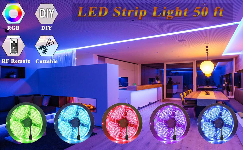 Led strip lights 50 ft