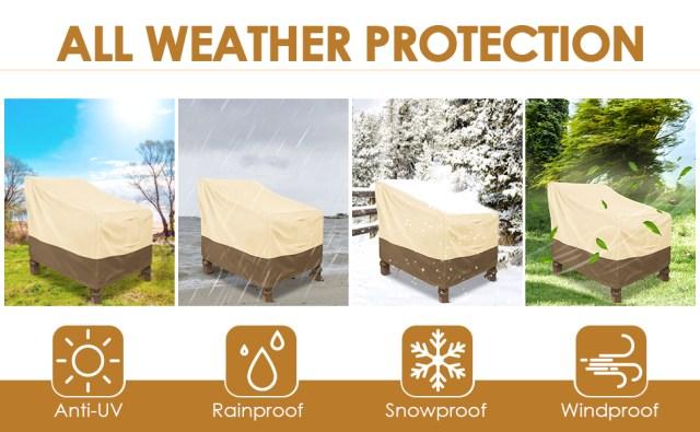 waterproof patio chair covers 2 pack
