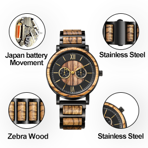 wooden watches wood watch boxes japanese quartz movement watch Personalized Engraved Wooden Watches