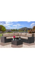 6 pieces outdoor furniture set