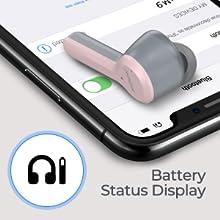 Bluetooth headphones pink girl women mini M9 airpods earphones in ear