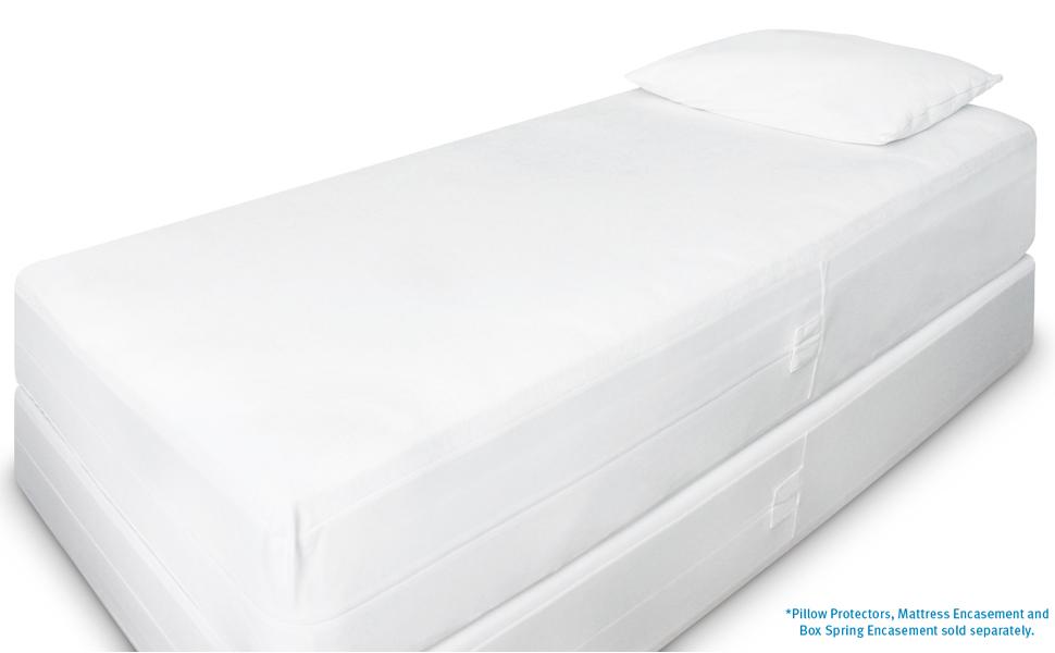 Amazon Com Twin 9 12 In Deep Sureguard Mattress Encasement 100 Waterproof Bed Bug Proof Hypoallergenic Premium Zippered Six Sided Cover Home Kitchen