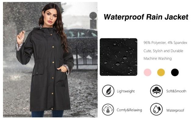 women lined raincoat windbreaker jacket