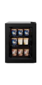 northair 1.1 cubic ft display door upright freezer