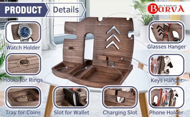 Wood Docking Station Tray
