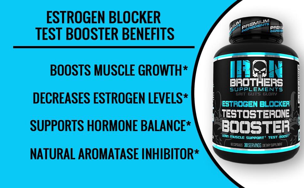 Iron Brothers Supplements Estrogen Blocker Benefits,Boost muscle growth,calcium supplement,gh boost