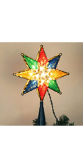 Lighted Christmas Tree Topper, Colorful