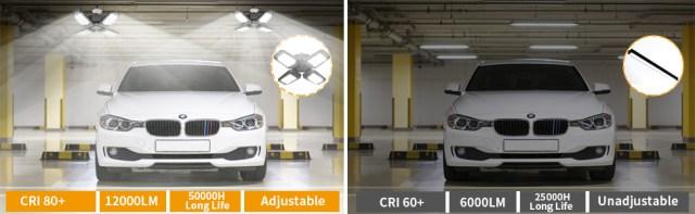 120W LED Garage Lighting