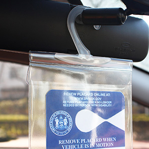 handicap placard cover