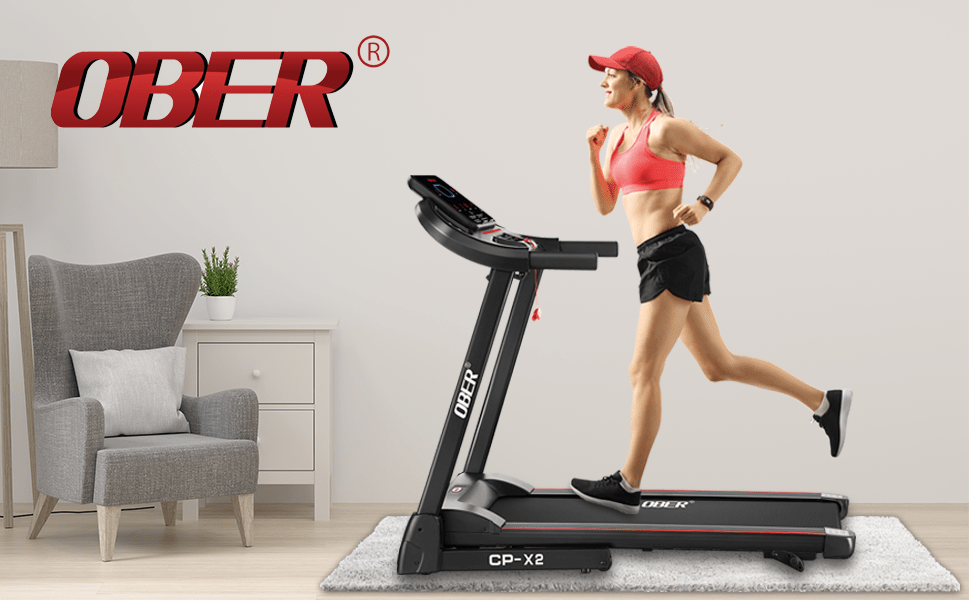 Ober folding treadmills for home with incline