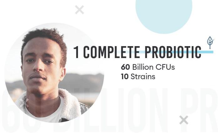 one complete probiotic 60 billion CFU