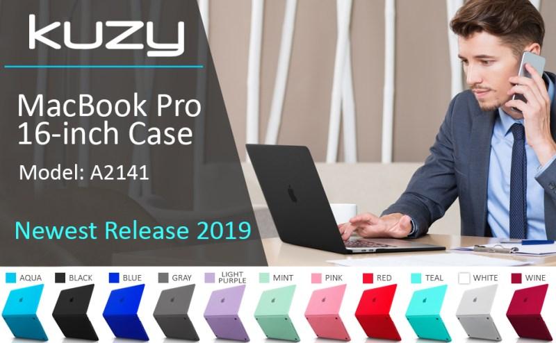 macbook pro 16 inch case, 16 inch macbook pro case A2141, macbook pro 16 case 2019 black clear matte