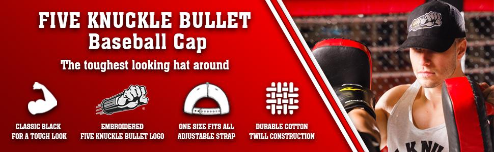 five knuckle bullet baseball cap hat mma workout fkb