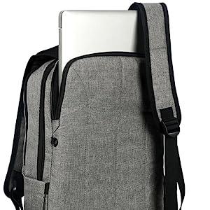 Anti-theft laptop compartment