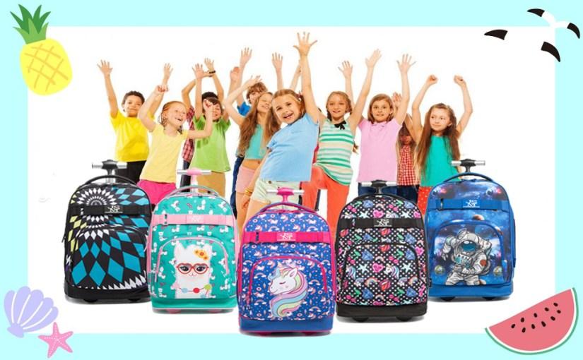 girls rolling backpack