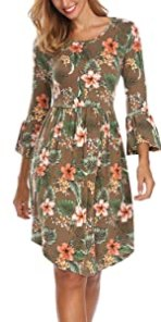 Floral Flared Party Midi Dress