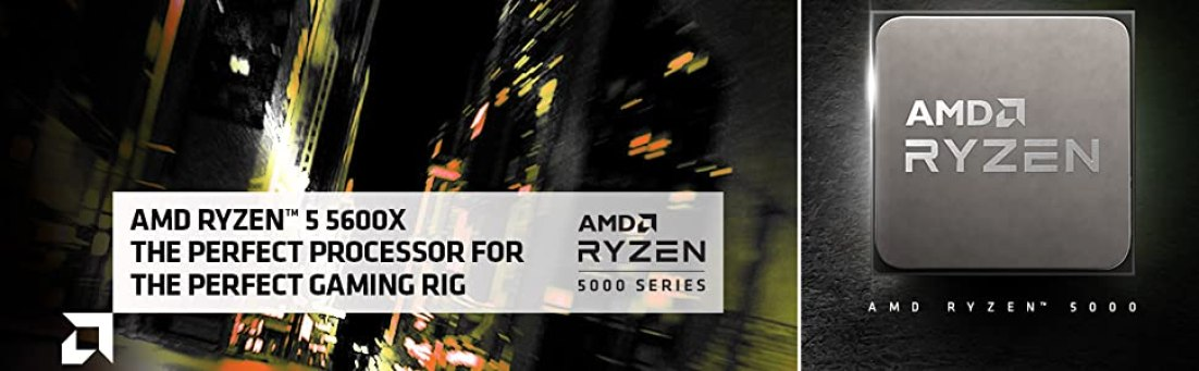 AMD 5000 Series Ryzen 5 5600X Desktop Processor