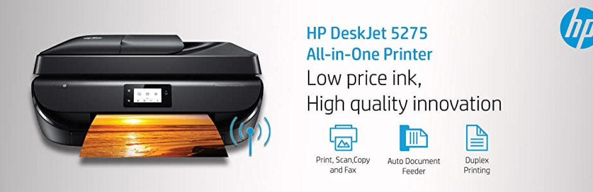 HP DeskJet 5275 All-in-One Ink Advantage WiFi Printer with FAX/ADF ...
