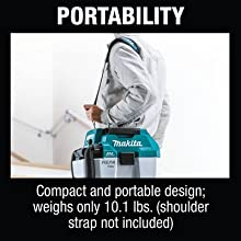 portability compact portable design weight lbs pounds shoulder strap not included optional carrying