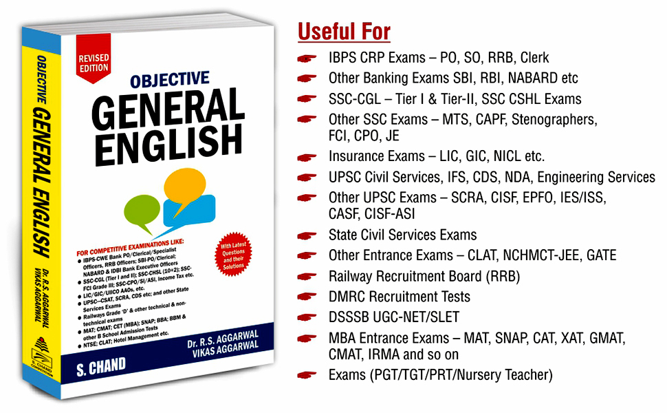 objective general english,competitive exam,competitive books, banking book, ssc, r.s aggarwal