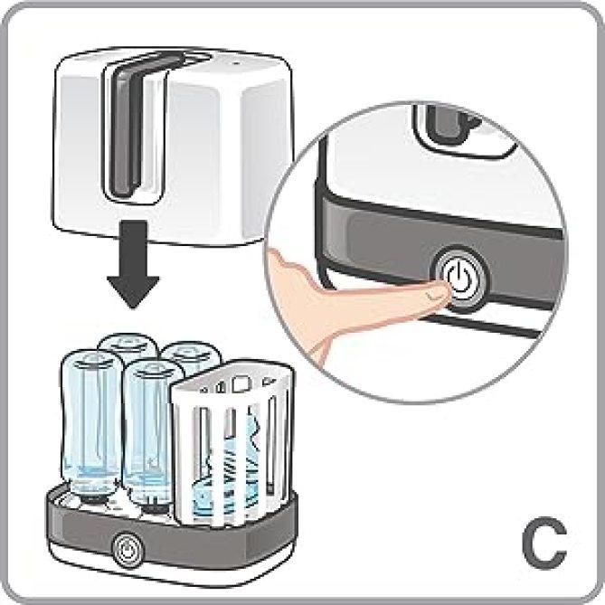 Arbeitet effektiv mit reinem Wasserdampf - ohne Chemikalien