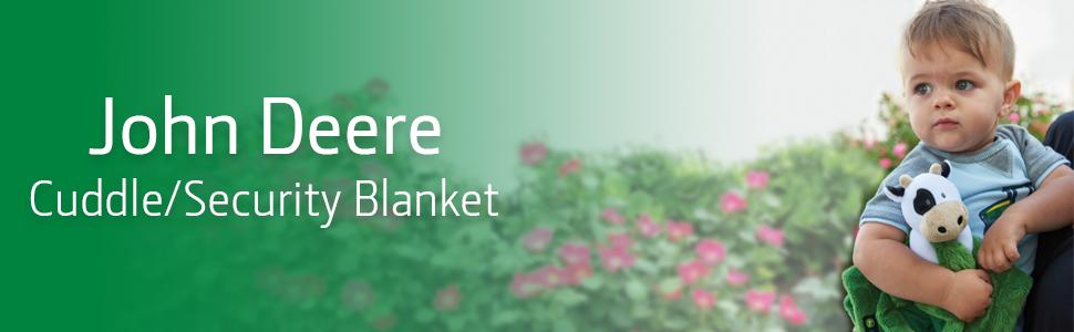 John Deere cuddle blanket, security blanket, cuddle toy