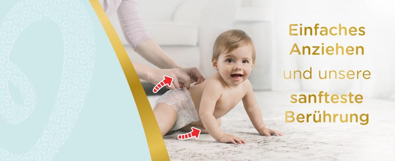 windeln, pampers, premium protection, pants, urin-indikator, trockenheit, hautschutz, weichheit