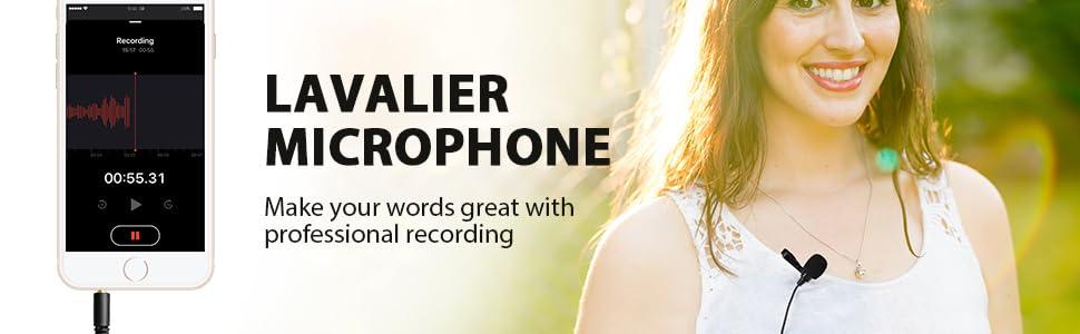 lavalier lapel microphone mic
