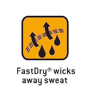 FastDry wicks away sweat