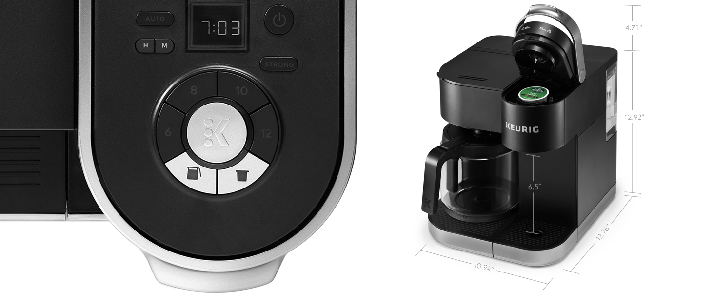 keurig k-duo single serve and carafe coffee maker, coffeemaker, kduo, brewer, ground coffee