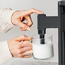 Fold away frother