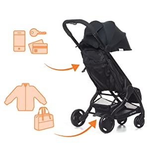 storage stroller, little stroller, baby stroller, handy stroller, portable stroller, mini stroller