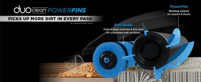 duoclean, powerfins, deep clean, carpet vacuum, hardfloor vacuum