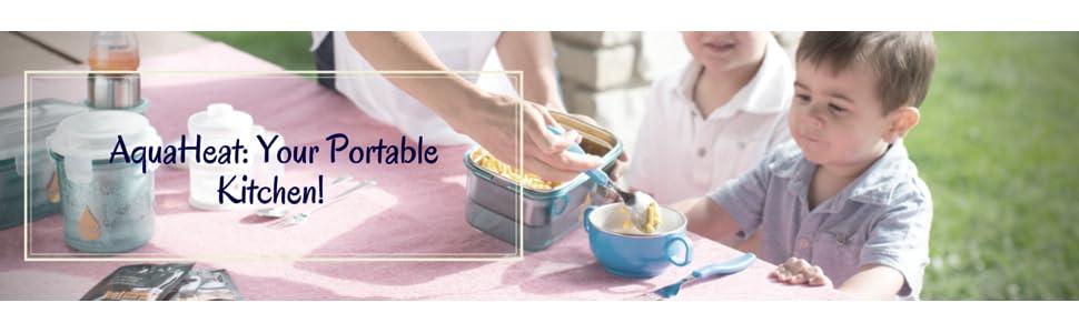 aquaheat, aquecedor de mamadeiras portátil, aquecedor de alimentos portátil, aquecedor de mamadeiras, innobaby