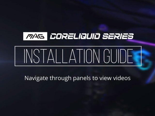 msi mag coreliquid series installation guide