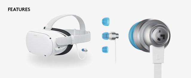 Logitech G333 VR Gaming Earphones for Oculus Quest 2
