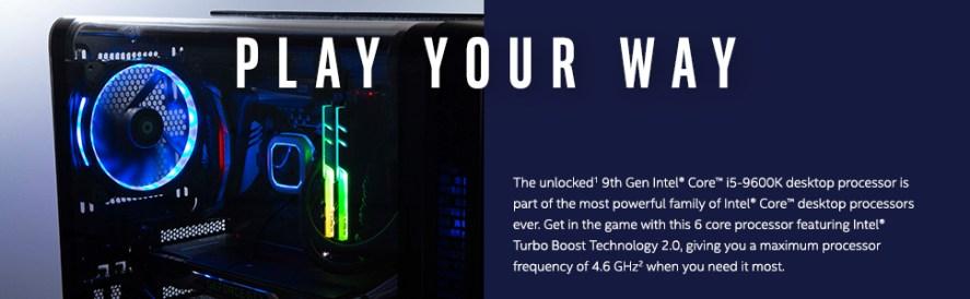 9th gen Intel Core i5-9600K desktop processor