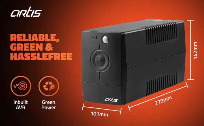 Artis Powersafe 600VA UPS for Home PC / office PC / Desktop PC  and Wifi Routers.