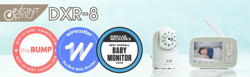 monitor do bebê, óptica infantil, monitor de vídeo, monitor de bebê de vídeo, DXR-8