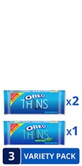 OREO Thins Mint Flavored Creme & OREO Thins Original Sandwich Cookies Variety Pack, Family Size