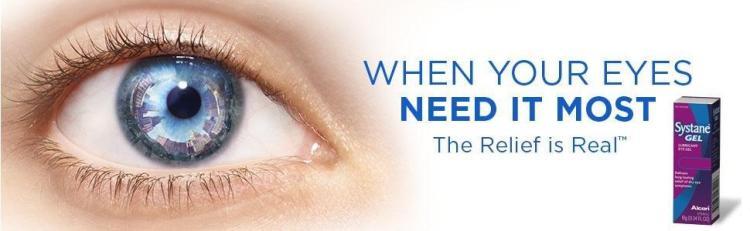 Afraid of Poor Eye Sight? Don't Worry! Get Systane Lubricant Eye Gel, 0.34-Ounces