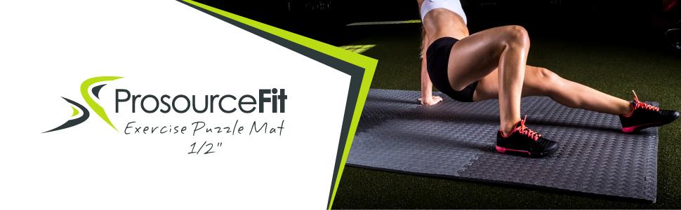 Prosource Fit Puzzle Exercise Mat, EVA Foam Interlocking Tiles, Protective Flooring