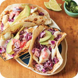 Image of delicious fish tacos.